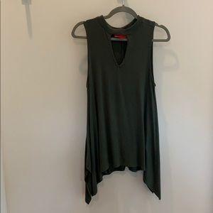 Mock neck sleeveless short